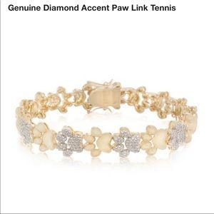 Jewelry - 14k yellow gold plated paw bracelet